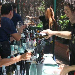 cata de vinos restaurante asador la estación de los porches